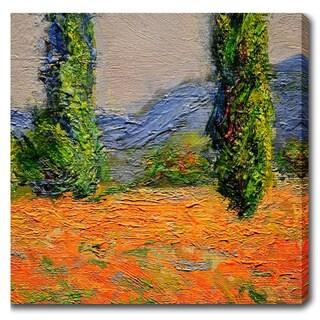 Claude Monet 'Campo De Amapolas' Oil on Canvas Art