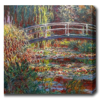 Claude Monet 'The Water Lily Pond' Oil on Canvas Art