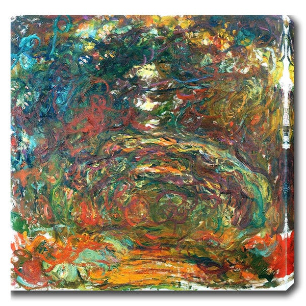 Claude Monet 'Path Under the Rose Arches at Giverny' Oil on Canvas Art