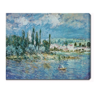 Claude Monet 'Landscape with Thunderstorm' Oil on Canvas Art