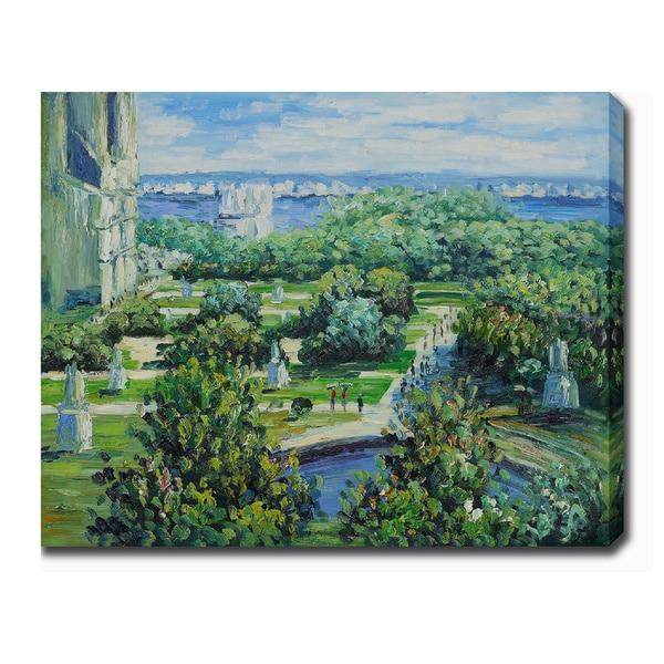 Claude Monet 'Les Tuileries' Oil on Canvas Art