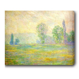 Claude Monet 'Meadows in Giverny' Oil on Canvas Art