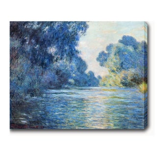 Claude Monet 'Morning on the Seine at Giverny' Oil on Canvas Art