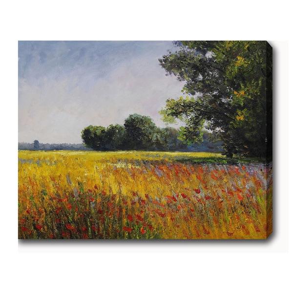 Claude Monet 'Oat Fields' Oil on Canvas Art