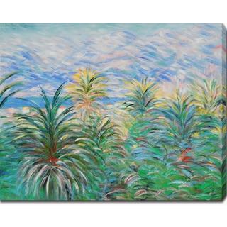 Claude Monet 'Palm Trees at Bordighera' Oil on Canvas Art