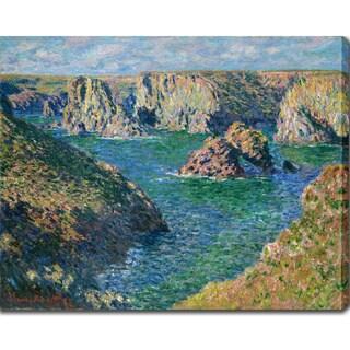 Claude Monet 'Port Donnant, Belle Ile' Oil on Canvas Art