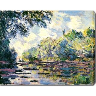 Claude Monet 'Section of the Seine near Giverny' Oil on Canvas Art