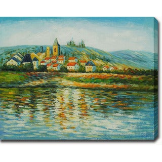 Claude Monet 'The Seine at Vetheuil' Oil on Canvas Art