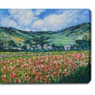 Claude Monet 'Poppy Field near Giverny' Oil on Canvas Art