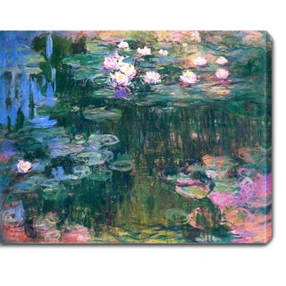 Claude Monet 'Water Lilies' Oil on Canvas Art