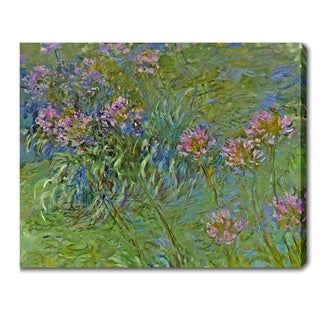 Claude Monet 'Agapanthus Flowers' Oil on Canvas Art