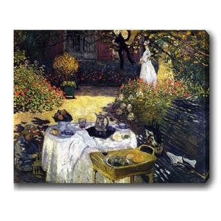 Claude Monet 'The Luncheon' Oil on Canvas Art