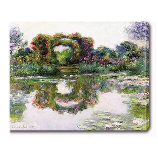 Claude Monet 'Flowering Arches, Giverny' Oil on Canvas Art