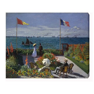 Claude Monet 'Garden at Sainte-Adresse' Oil on Canvas Art