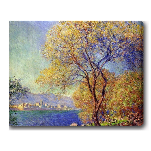 Claude Monet 'Antibes seen from the Salis Gardens' Oil on Canvas Art