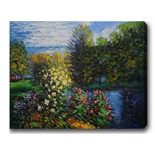 Claude Monet 'Corner of the Garden at Montgeron' Oil on Canvas Art