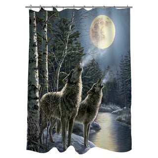 Thumbprintz Howling Shower Curtain
