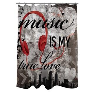 Thumbprintz Music Is My True Love Shower Curtain