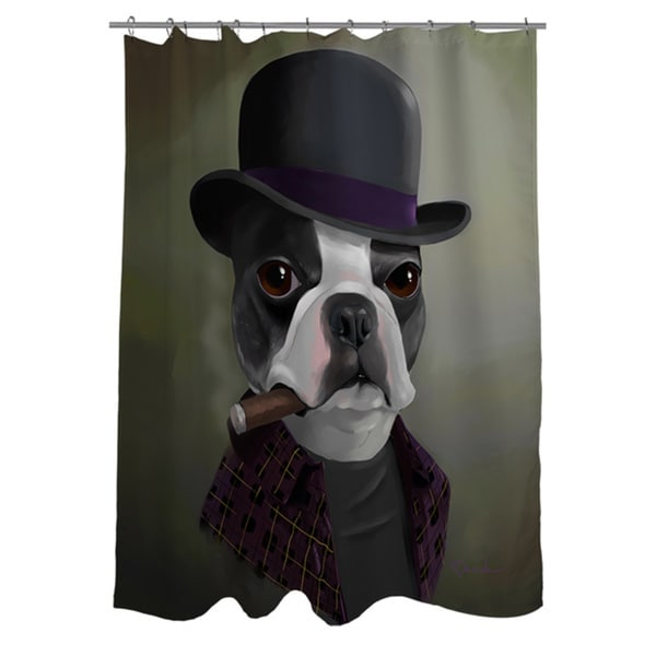 Thumbprintz BT Bowler Hat Shower Curtain