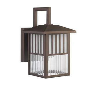 Transitional 1-light Outdoor Wall fixture in Oil Rubbed Bronze