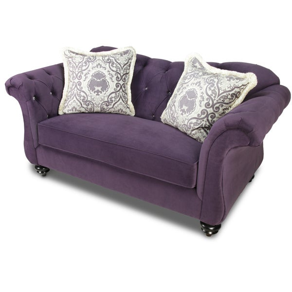 Furniture Of America Agatha Traditional Tufted Loveseat Overstock Shopping Great Deals On