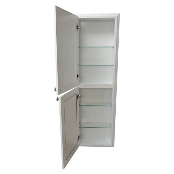 48-inch Recessed White Plantation Medicine Storage Cabinet