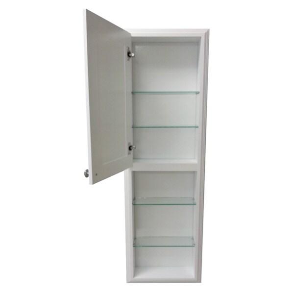 48-inch White Plantation Medicine Cabinet with 24-inch Open Shelf