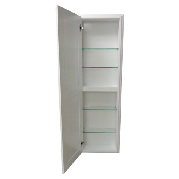 42-inch Recessed White Plantation Medicine Storage Cabinet