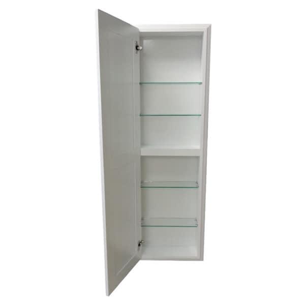 Recessed White Plantation Medicine Storage Cabinet