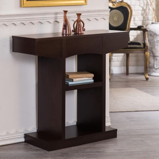Furniture of America Nethera Modern Walnut Console Table