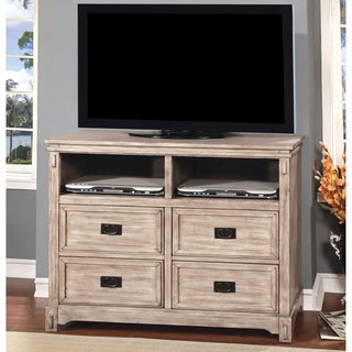 Furniture of America Godric Traditional Style Weathered Grey Media Cabinet