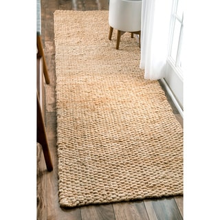 nuLOOM Handmade Natural Jute Runner Rug (2'6 x 8')