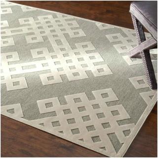 nuLOOM Velvet Faux Silk Fancy Light Grey Rug (5'1 x 8')