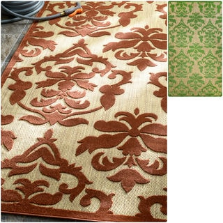 nuLOOM Indoor/ Outdoor Damask Fancy Porch Rug (5' x 8')