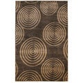 Oh! Home Milan Collection Brown/ Beige Area Rug (1'10 x 2'10)