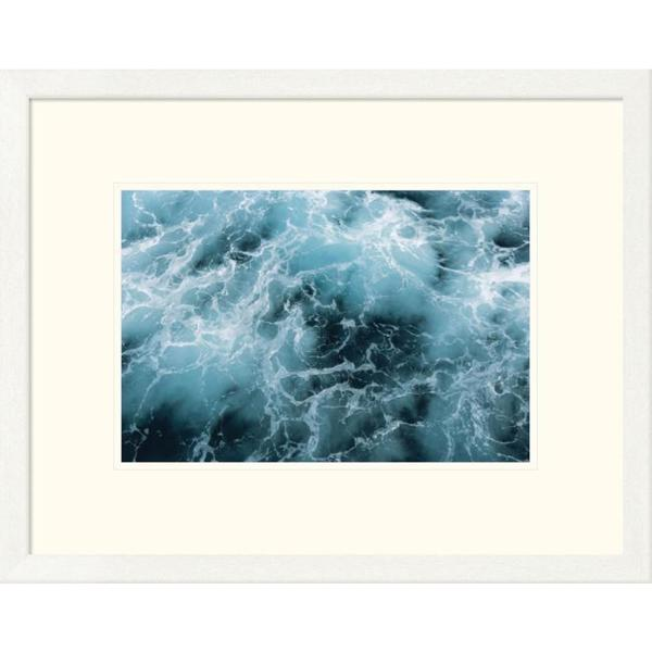 Ingo Arndt 'Churning water beside the German icebreaker Polarstern, Weddell Sea, Antarctica' Framed Art Print