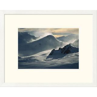 Colin Monteath 'Windblown snow at dawn on Franz Josef Glacier, Westland NP, New Zealand' Framed Art Print