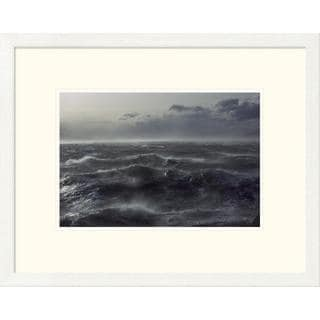 Colin Monteath 'Windstorm over ocean in Beagle Channel, Tierra del Fuego, Argentina' Framed Art Print
