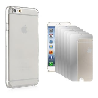 BasAcc Clear Slim Case/ Mirror Screen Protector for Apple iPhone 6 4.7-inch