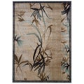 Linon Milan Collection Beige/ Aqua Area Rug (8' x 10'3)