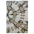 Linon Milan Collection Ivory/ Brown Area Rug (8' x 10'3)