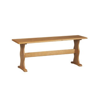 Linon Chelsea Honey Wood Bench