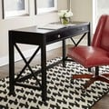 Linon Anna Collection Wood Black Desk