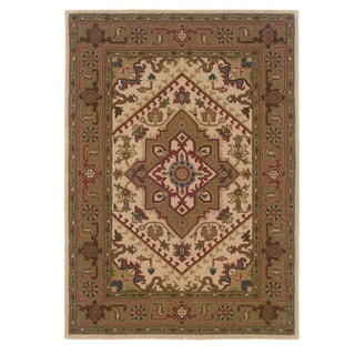 Trio Traditional Ivory/ Gold Area Rug (8' x 10')