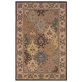 Linon Soumak Collection Brown and Ivory Rug (9' x 12')