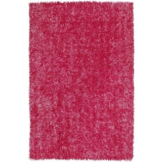 Vivid Hot Pink Rectangular Shag Rug (5' x 7' 6)