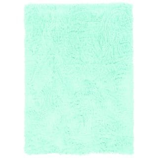 Oh! Home Blue Faux Sheepskin Rug (5' x 7')