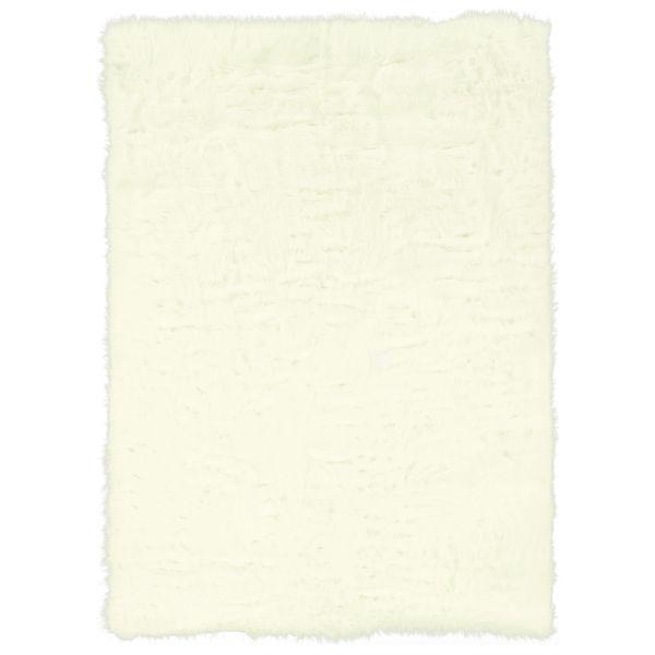 Linon White Faux Sheepskin Rug (3' x 5')