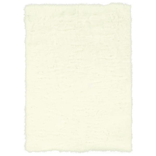 Linon White Faux Sheepskin Rug (5' x 7')