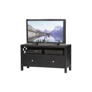 Oh! Home Elsa TV Stand, Ebony with Rub Thru